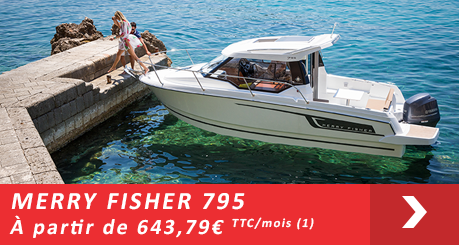 Jeanneau MERRY FISHER 795- Offres Leasy Boat - Location avec Option d'achat