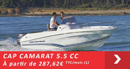 Jeanneau Cap Camarat 5.5 CC - Offres Leasy Boat - Location avec Option d'achat