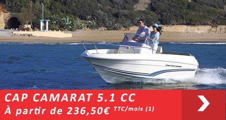 Jeanneau Cap Camarat 5.1 CC - Offres Leasy Boat - Location avec Option d'achat