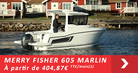 Jeanneau MERRY FISHER 605 Marlin  - Offres Leasy Boat - Location avec Option d'achat
