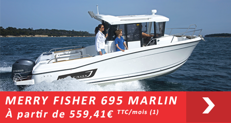 Jeanneau MERRY FISHER 695 Marlin  - Offres Leasy Boat - Location avec Option d'achat