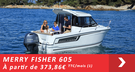 Jeanneau MERRY FISHER 605  - Offres Leasy Boat - Location avec Option d'achat