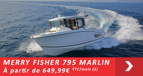 Jeanneau MERRY FISHER 795 Marlin - Offres Leasy Boat - Location avec Option d'achat