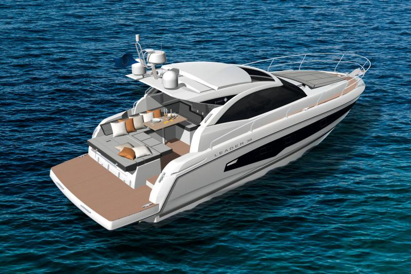 Leader 36 │ Leader of 12m │ Boat powerboat Jeanneau Cockpit Lounge Version 18351