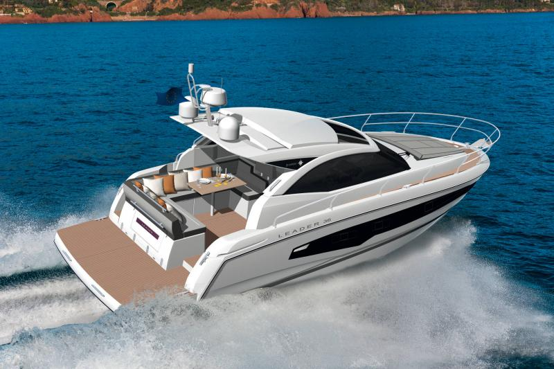 Leader 36 │ Leader de 12m │ Bateaux powerboat Jeanneau Version Cockpit Lounge 18350