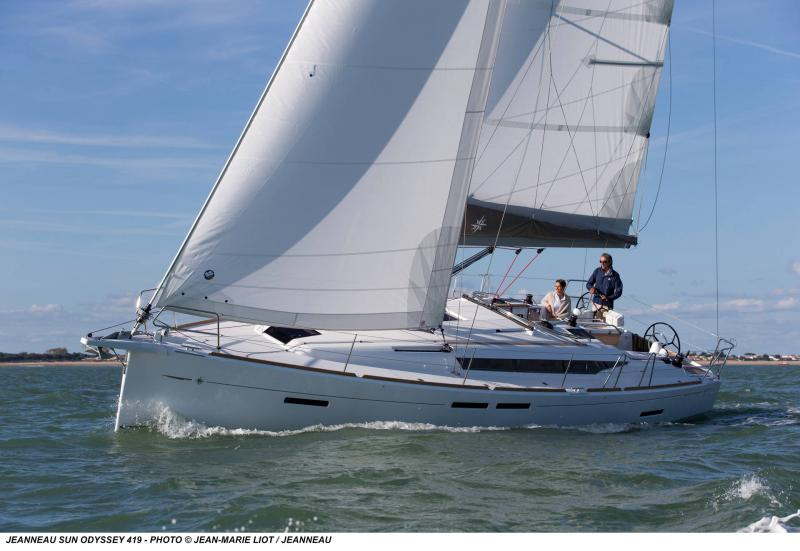 Sun Odyssey 419 │ Sun Odyssey de 13m │ Bateaux Voiliers Jeanneau  19360