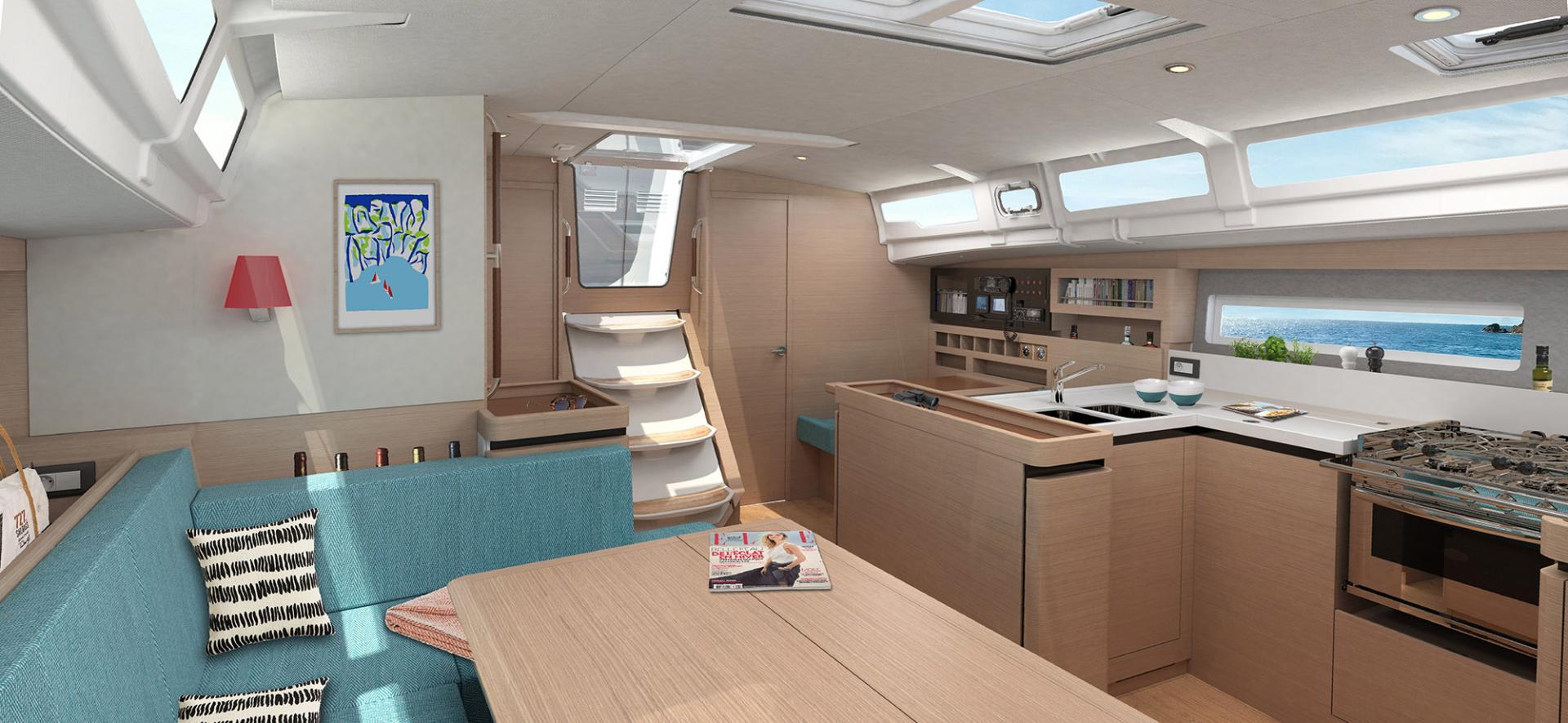 Sun Odyssey 490 Vistas del interior 12