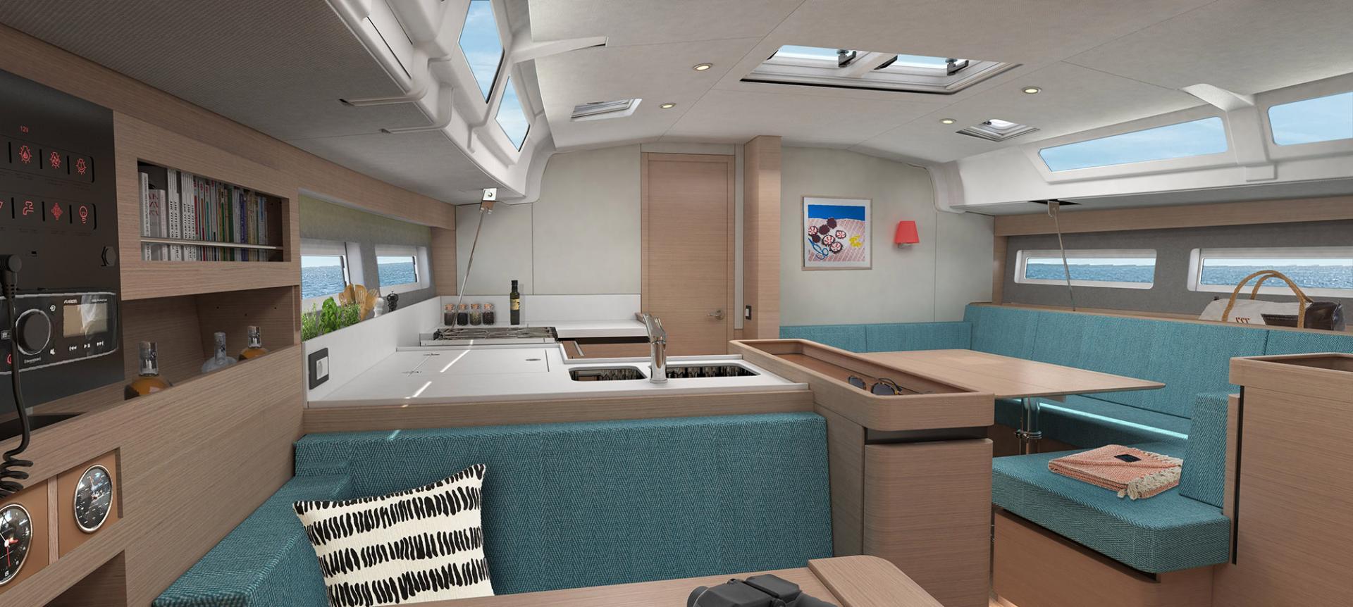 Sun Odyssey 490 Vistas del interior 10