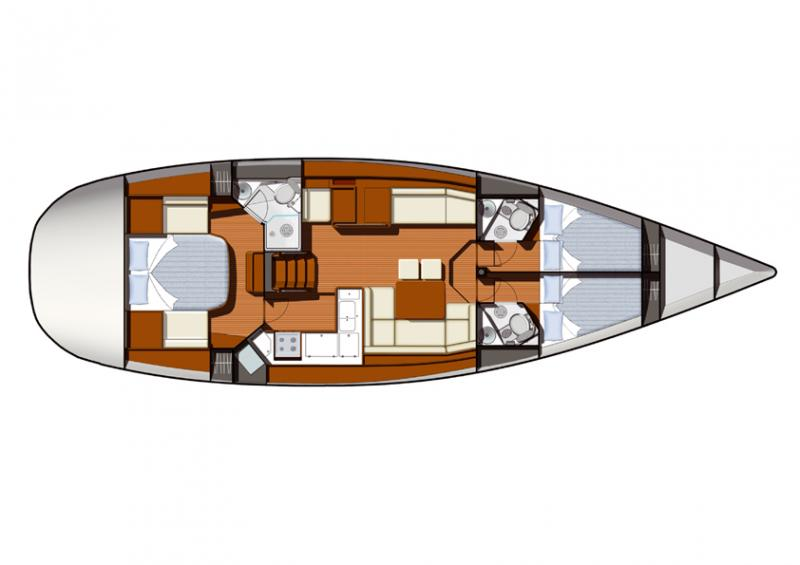 Sun Odyssey 50 DS │ Sun Odyssey DS of 15m │ Boat Sailboat Jeanneau boat Sun-Odyssey-DS-50DS 181