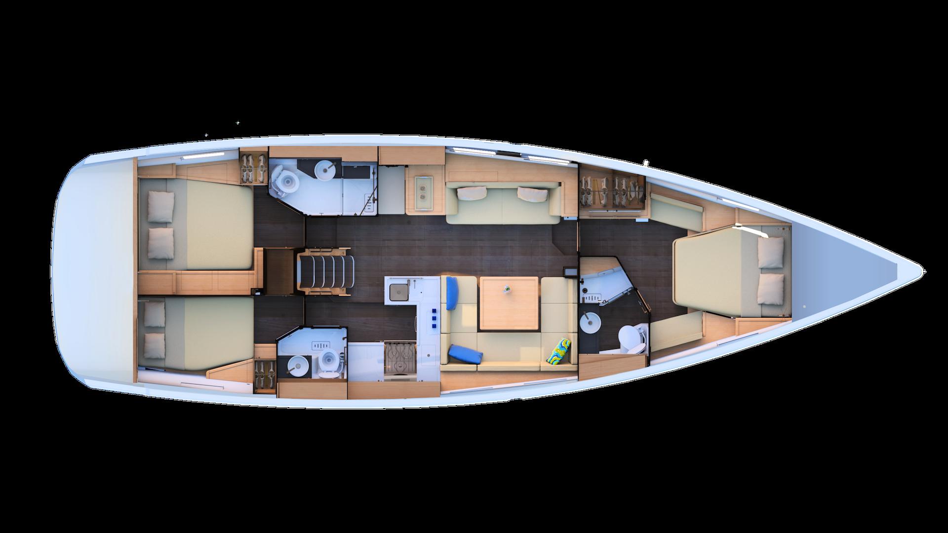 Jeanneau 51 | 3 cabins