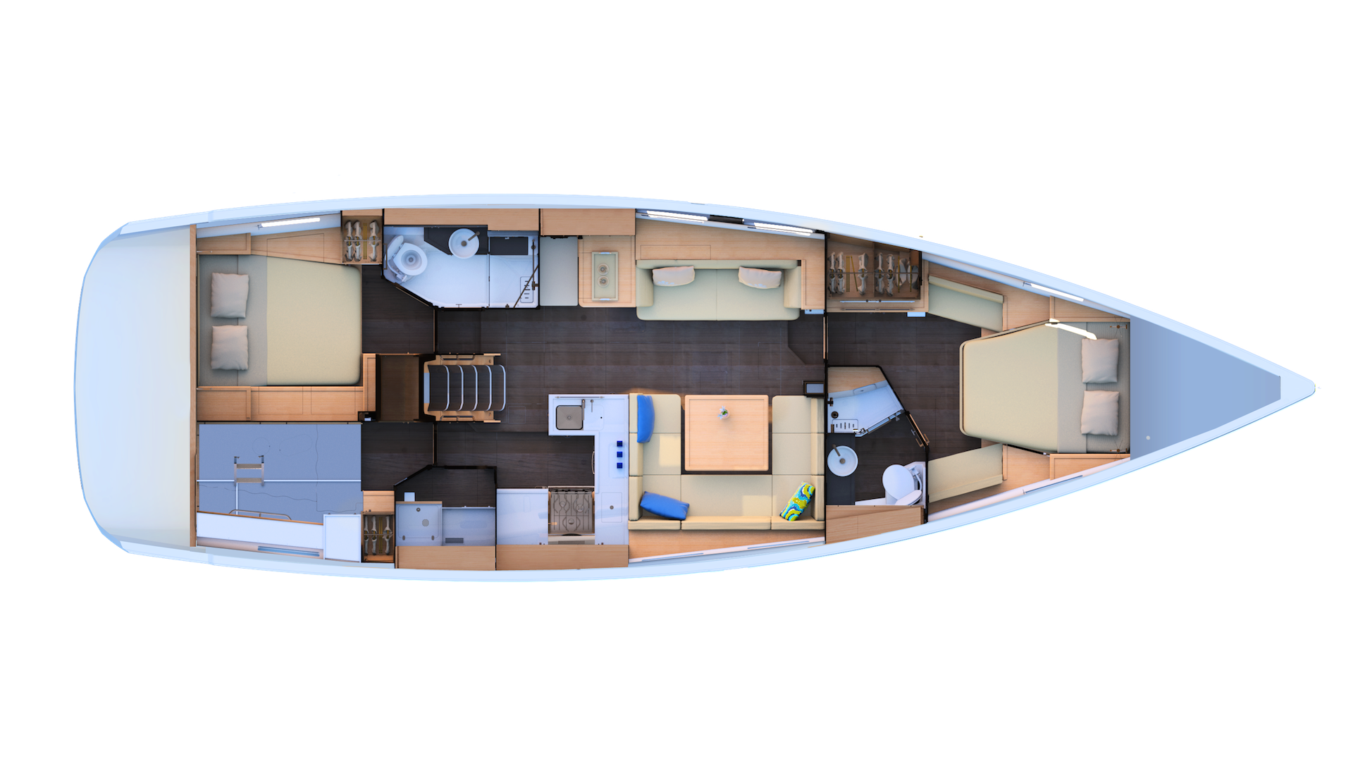 Jeanneau 51 | 2 cabins, Workshop