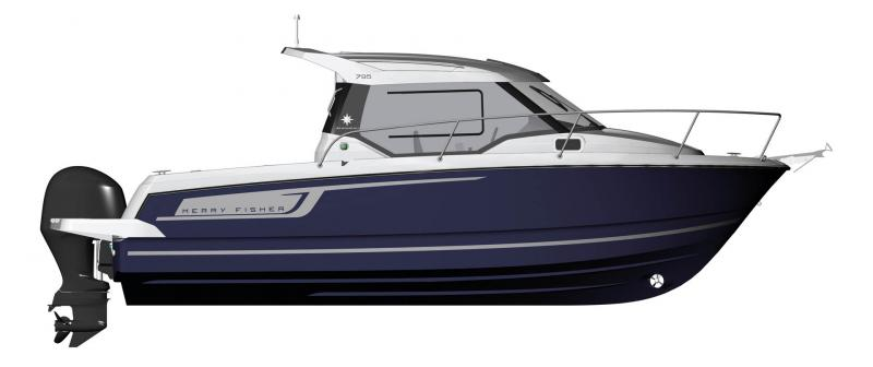 Merry Fisher 795 │ Merry Fisher of 7m │ Boat powerboat Jeanneau barche plans 10722