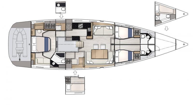 Jeanneau Yachts 65 │ Jeanneau Yachts of 21m │ Boat Sailboat Jeanneau  22965
