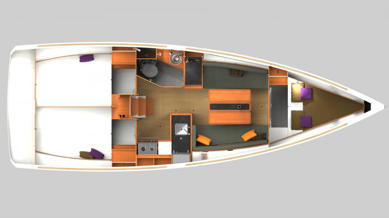 Sun Odyssey 349 │ Sun Odyssey of 10m │ Boat Sailboat Jeanneau  12254