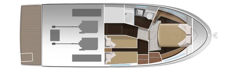 NC 38 Fly │ NC of 11m │ Boat Intra-borda Jeanneau  14879
