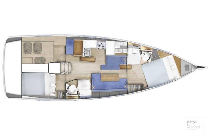 Sun Odyssey 410 │ Sun Odyssey of 12m │ Boat Sailboat Jeanneau Swing Keel 2020 version 19347