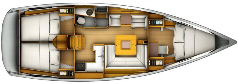 Sun Odyssey 419 │ Sun Odyssey de 13m │ Bateaux Voiliers Jeanneau  19401