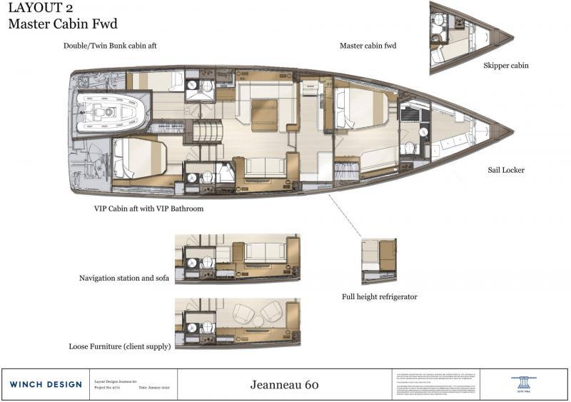 Jeanneau Yachts 60 │ Jeanneau Yachts de 18m │ Bateaux Voiliers Jeanneau  20839
