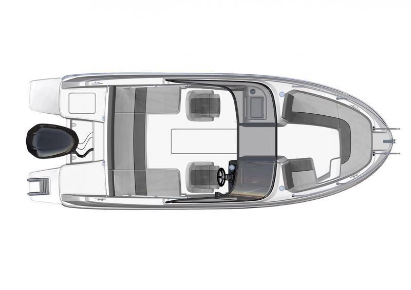 CAP CAMARAT 6.5 BR │ Cap Camarat Bow Rider of 6m │ Boat Outboard Jeanneau  3049