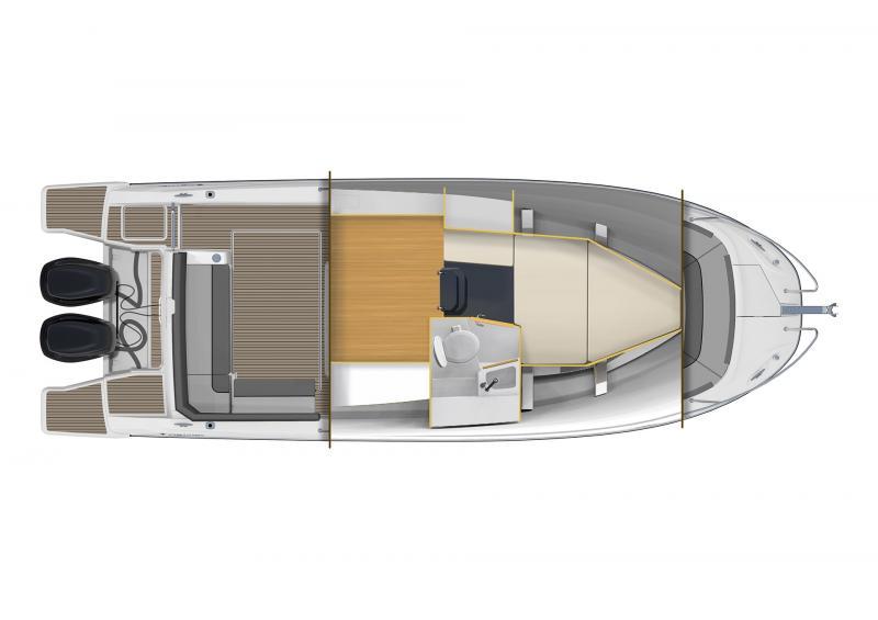 Cap Camarat 9.0 CC │ Cap Camarat Center Console of 9m │ Boat Outboard Jeanneau Cap Camarat 9.0 CC 11367