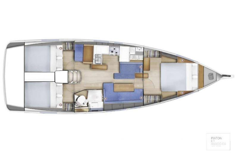 Sun Odyssey 410 │ Sun Odyssey Walk-Around of 12m │ Boat Sailboat Jeanneau Swing Keel 2020 version 19349
