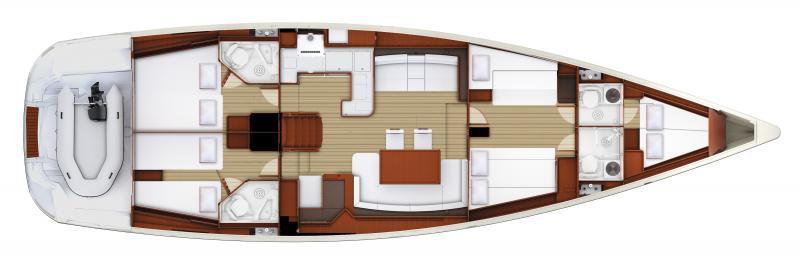 Jeanneau 58 | 4 cabins, 4 heads, Forward bow cabin
