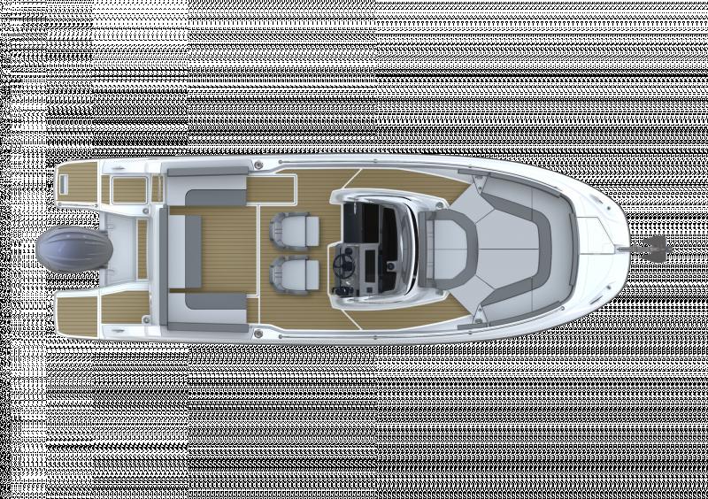Cap Camarat 7.5 CC Série3 │ Cap Camarat Center Console of 7m │ Boat powerboat Jeanneau  23100