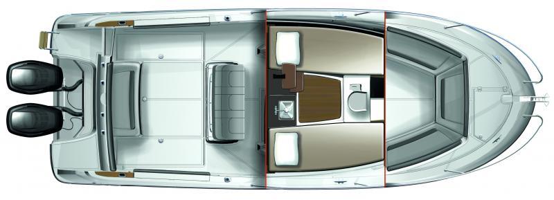 Cap Camarat 8.5 CC │ Cap Camarat Center Console of 8m │ Boat Outboard Jeanneau boat plans 356