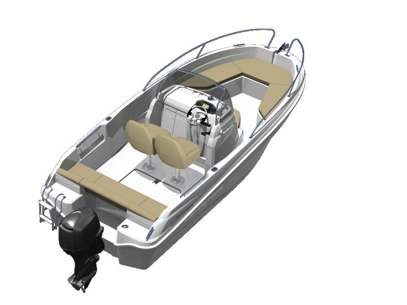 Cap Camarat 5.5 CC │ Cap Camarat Center Console of 5m │ Boat powerboat Jeanneau boat plans 629