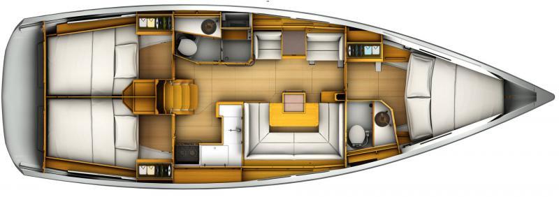 Sun Odyssey 419 │ Sun Odyssey de 13m │ Bateaux Voiliers Jeanneau  13101