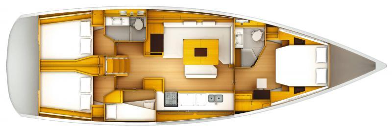 Sun Odyssey 519 │ Sun Odyssey of 16m │ Boat Sailboat Jeanneau  13700
