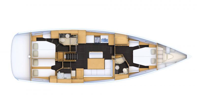 Jeanneau 54 │ Jeanneau Yachts of 16m │ Boat Segelboote Jeanneau  13580