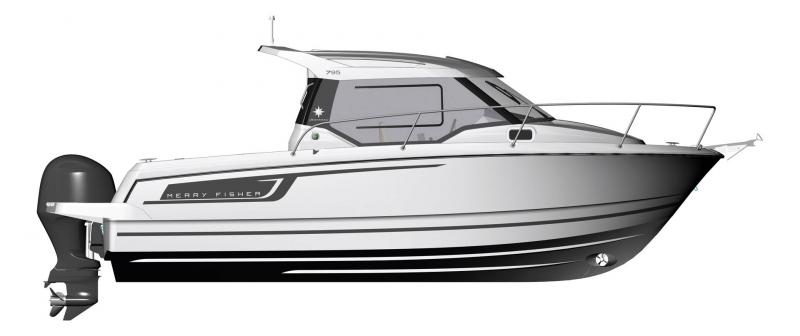 Merry Fisher 795 │ Merry Fisher of 7m │ Boat powerboat Jeanneau barche plans 1421