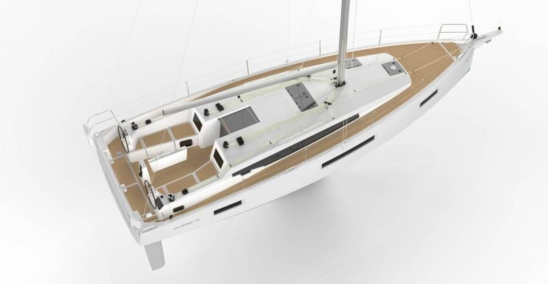 Sun Odyssey 410 │ Sun Odyssey Walk-Around of 12m │ Boat Sailboat Jeanneau 3/4 back 12144