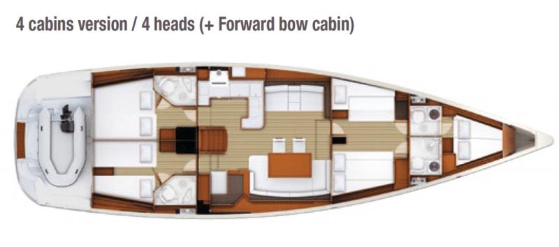 Jeanneau 58 │ Jeanneau Yachts of 18m │ Boat Sailboat Jeanneau  13647