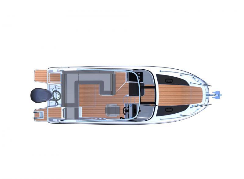 Cap Camarat 7.5 DC série 2 │ Cap Camarat Day Cruiser of 7m │ Boat Außenbord Jeanneau  12949