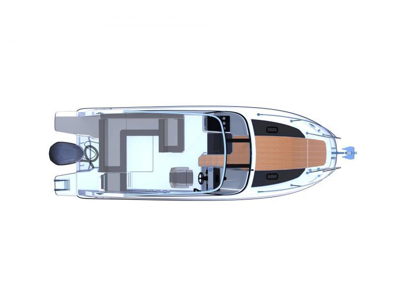 Cap Camarat 7.5 DC série 2 │ Cap Camarat Day Cruiser of 7m │ Boat Außenbord Jeanneau  12948