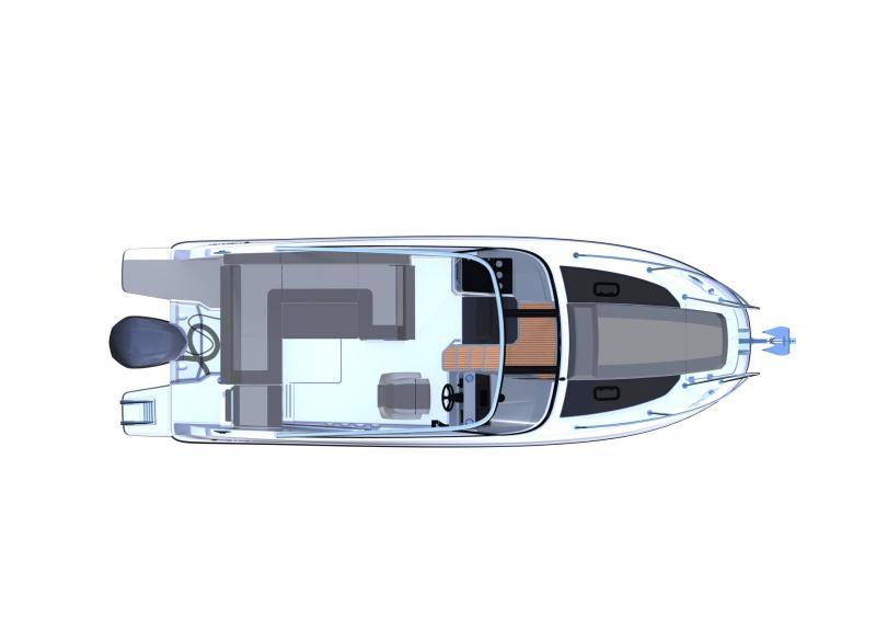 Cap Camarat 7.5 DC série 2 │ Cap Camarat Day Cruiser of 7m │ Boat Außenbord Jeanneau  12950
