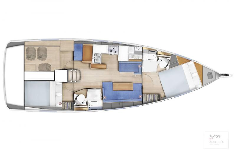 Sun Odyssey 410 │ Sun Odyssey Walk-Around of 12m │ Boat Sailboat Jeanneau  14137