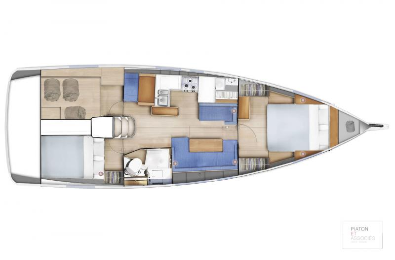 Sun Odyssey 410 │ Sun Odyssey Walk-Around of 12m │ Boat Sailboat Jeanneau  14138