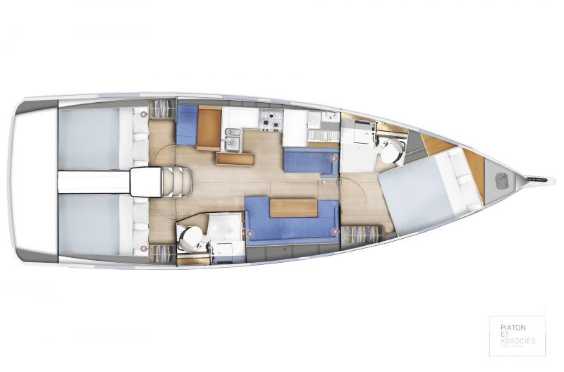 Sun Odyssey 410 │ Sun Odyssey Walk-Around of 12m │ Boat Sailboat Jeanneau  14140