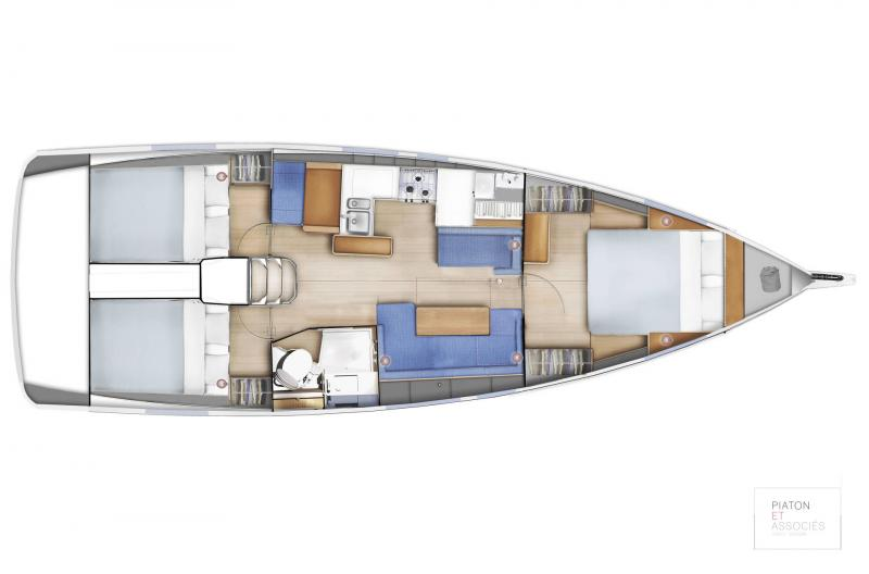 Sun Odyssey 410 │ Sun Odyssey Walk-Around of 12m │ Boat Sailboat Jeanneau  14142