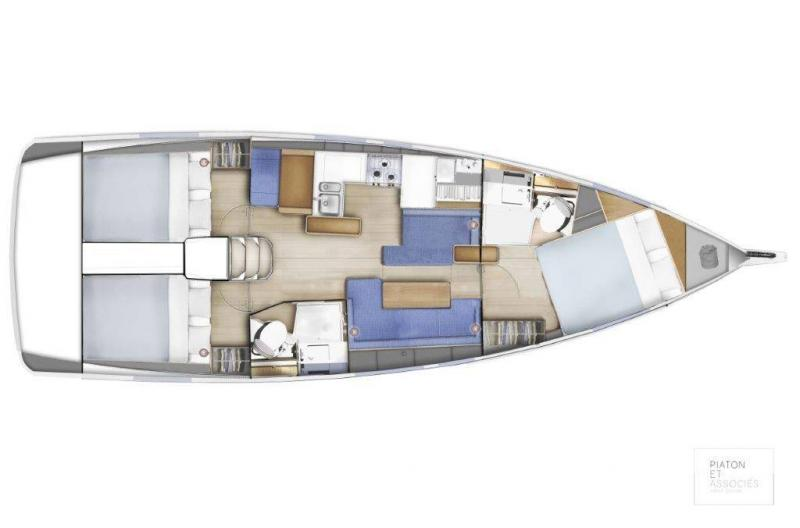 Sun Odyssey 410 │ Sun Odyssey Walk-Around of 12m │ Boat Sailboat Jeanneau Swing Keel 2020 version 16166