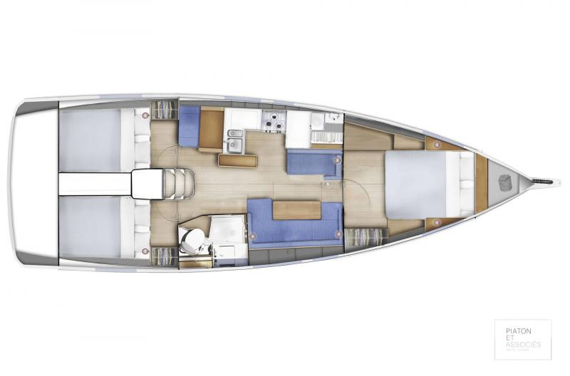 Sun Odyssey 410 │ Sun Odyssey Walk-Around of 12m │ Boat Sailboat Jeanneau  16145
