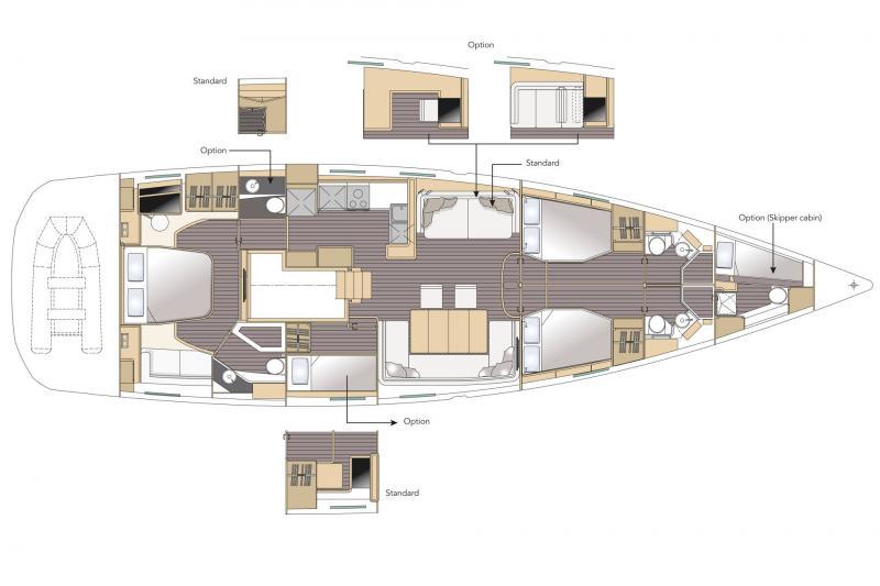 Jeanneau 64 │ Jeanneau Yachts de 20m │ Bateaux Voiliers Jeanneau  16340