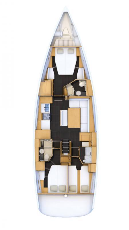 Jeanneau 54 │ Jeanneau Yachts de 16m │ Bateaux Voiliers Jeanneau  16476