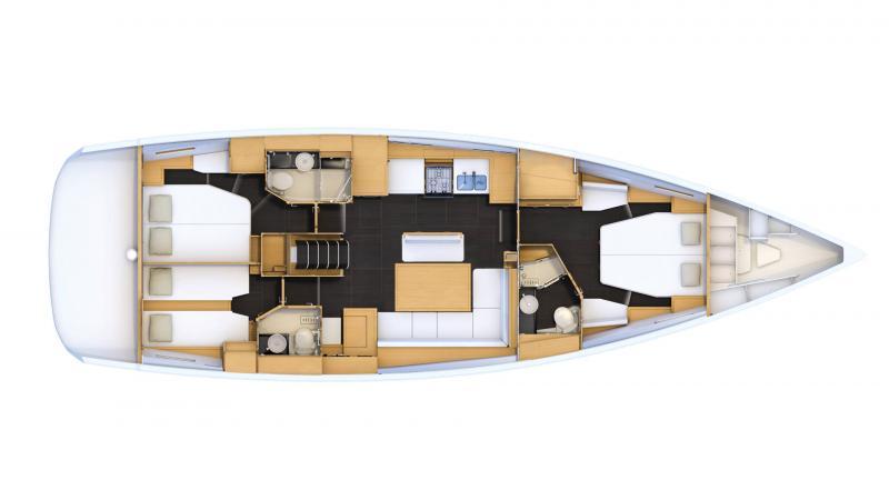 Jeanneau 54 │ Jeanneau Yachts de 16m │ Bateaux Voiliers Jeanneau  16472