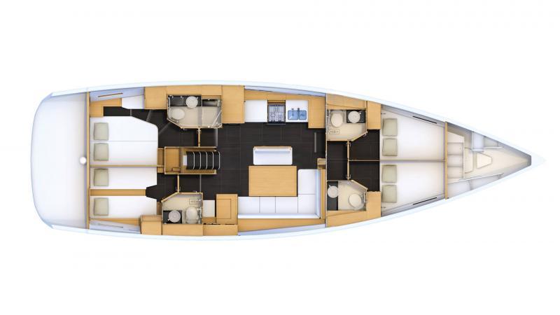 Jeanneau 54 │ Jeanneau Yachts de 16m │ Bateaux Voiliers Jeanneau  16473
