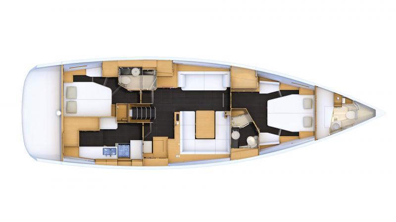 Jeanneau 54 │ Jeanneau Yachts de 16m │ Bateaux Voiliers Jeanneau  16470