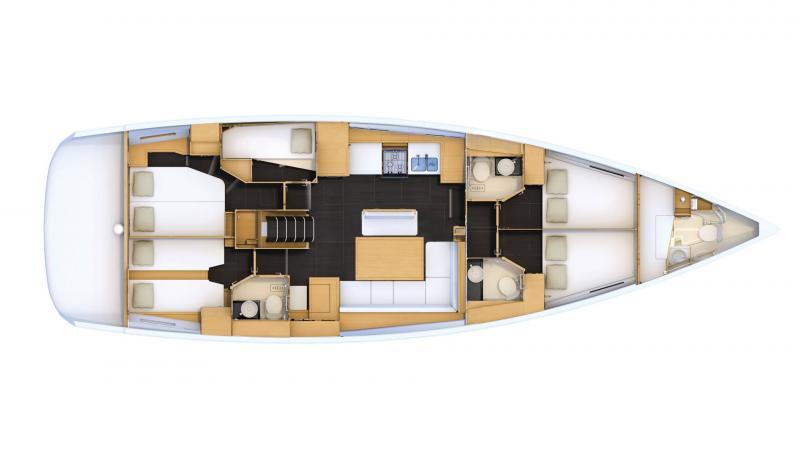 Jeanneau 54 │ Jeanneau Yachts de 16m │ Bateaux Voiliers Jeanneau  16474